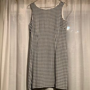 Black and White Checked Dress Size 8 Petite